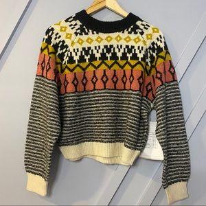 BP Fairisle dolman pullover pattern warm cozy chic